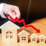 House prices fall
